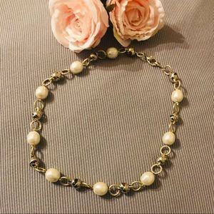 Vintage Pearl and Gold Colour mix Necklace